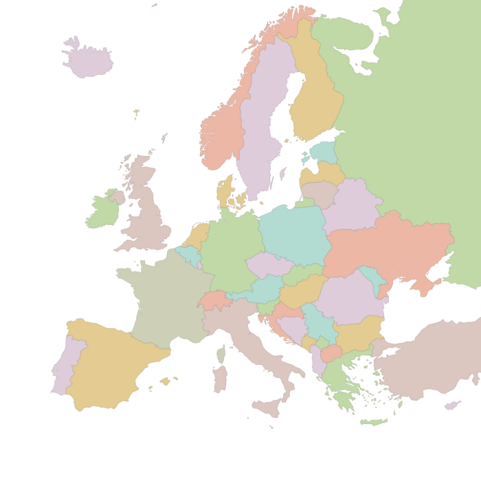 European word translator: an interactive map